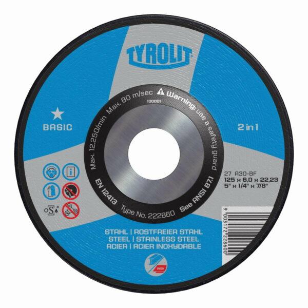 Disc debitare 125 mm x 2.5 Tyrolit - 39321