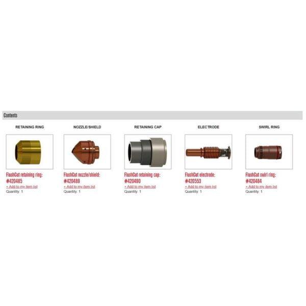Kit FlushCut 125A - 428713