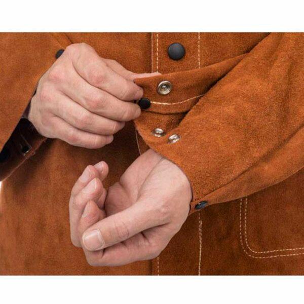 Jacheta de sudura piele Lava Brown - 44-7300