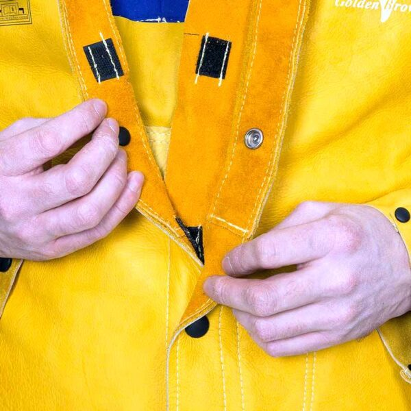 Jacheta piele sagrinata Golden Brown - 44-5530