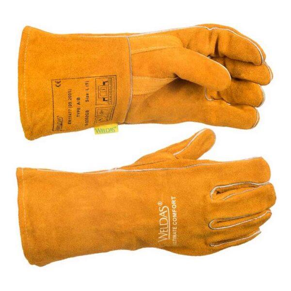 Manusi sudura WELDAS pentru MIG-MAG, Golden Brown, 34 cm - 10-2392GB