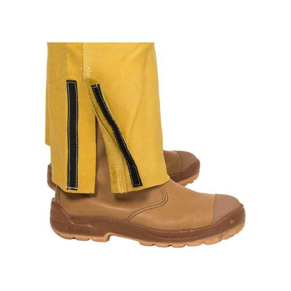 Pantaloni piele cu pieptar Golden Brown - 44-5600