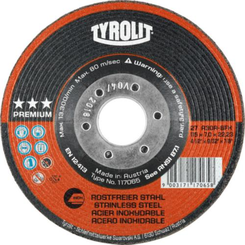 Disc de polizare dura inox premium Tyrolit -