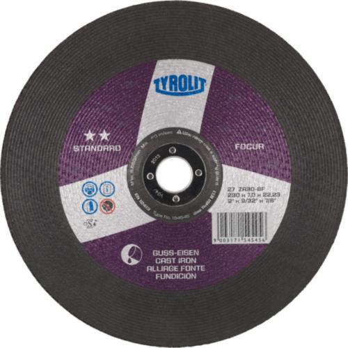 Disc de polizare dura fonta FOCUR standard Tyrolit -