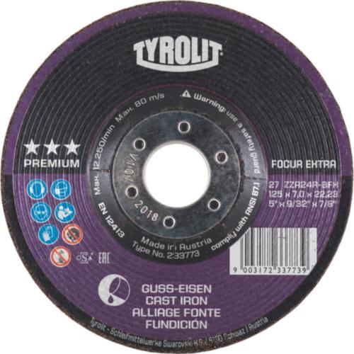 Disc de polizare dura fonta FOCUR EXTRA premium Tyrolit -