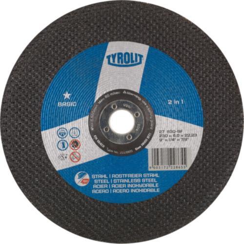 Disc de polizare dura otel/inox 2 in 1 basic Tyrolit -