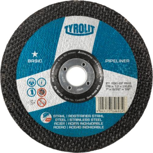 Disc de polizare dura otel/inox PIPELINER basic Tyrolit -