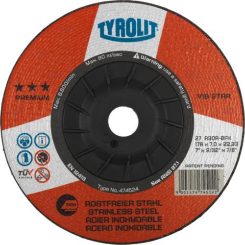 Disc de polizare dura inox VIBSTAR premium Tyrolit -