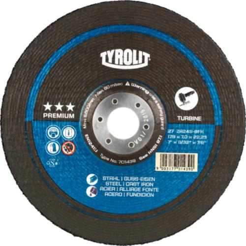 Disc de polizare dura otel/fonta T-GRIND premium Tyrolit -