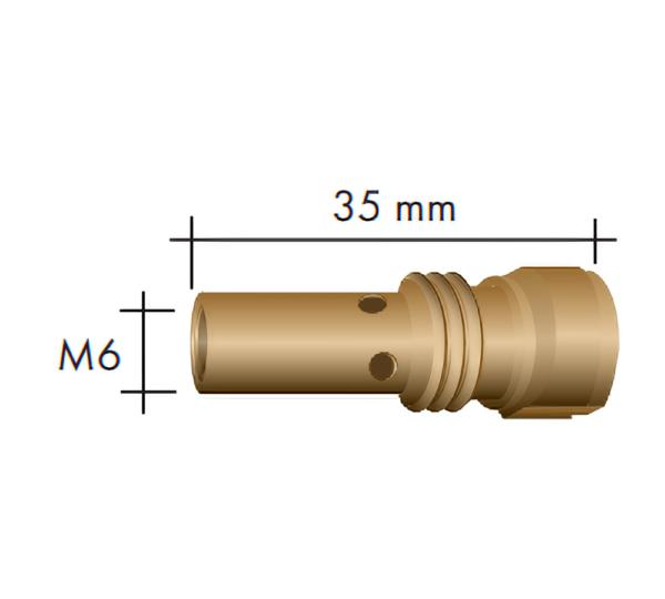 Portduza curent M6 L=35 mm - 006.D719.5