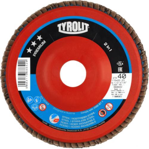 Disc lamelar otel/inox 2in1 premium Tyrolit 27N -