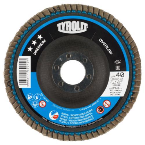 Disc lamelar otel/inox OVERLAP premium Tyrolit -