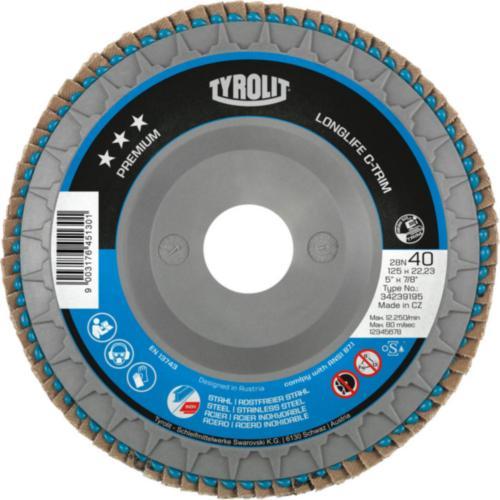 Disc lamelar oțel/inox LONGLIFE C-TRIM premium Tyrolit -