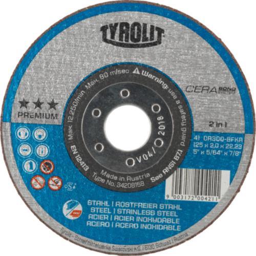 Disc debitare oțel/inox CERABOND premium Tyrolit -