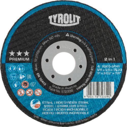 Disc debitare 2 in 1 otel/inox premium Tyrolit -