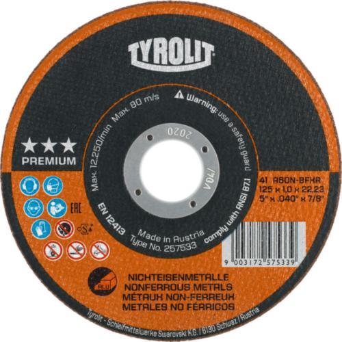 Disc debitare metale neferoase premium Tyrolit -
