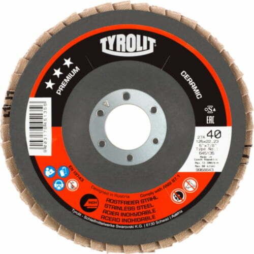 Disc lamelar inox CERAMIC premium Tyrolit -