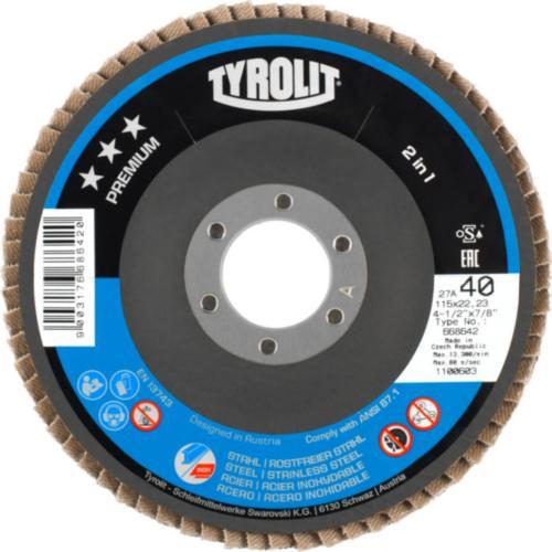 Disc lamelar otel/inox 2in1 premium Tyrolit 27A -