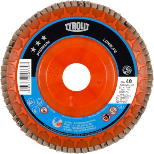 Disc lamelar otel/inox LONGLIFE premium Tyrolit -