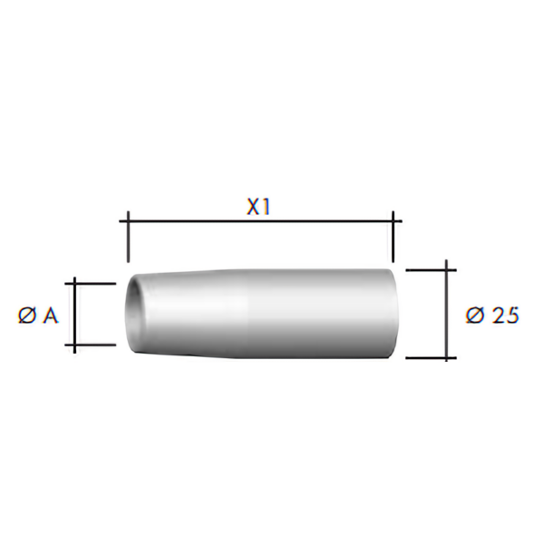 Duza gaz Ø25 mm -