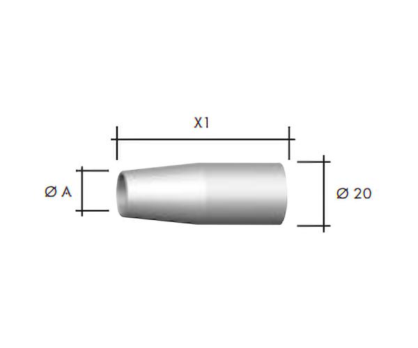 Duza gaz Ø20 mm -