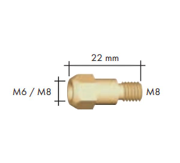 Portduza M6/M8 L=22 mm -