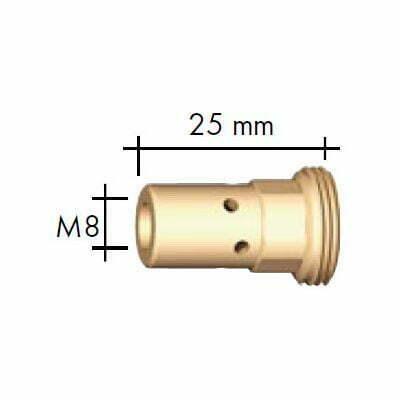 Portduza M8/M10x1 L=25 mm -