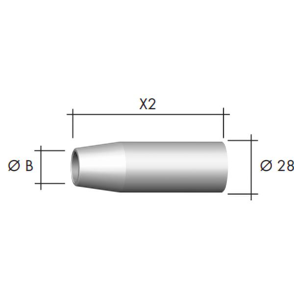 Duza gaz Ø28 mm -