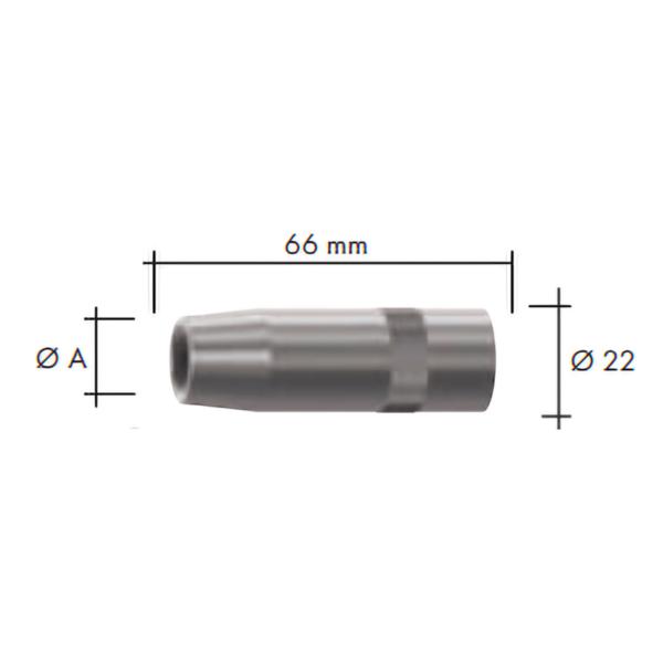 Duza gaz(22x66) ABIMIG W T 440 -