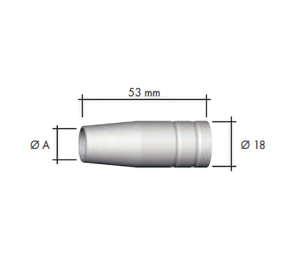 Duza gaz (18x53) -